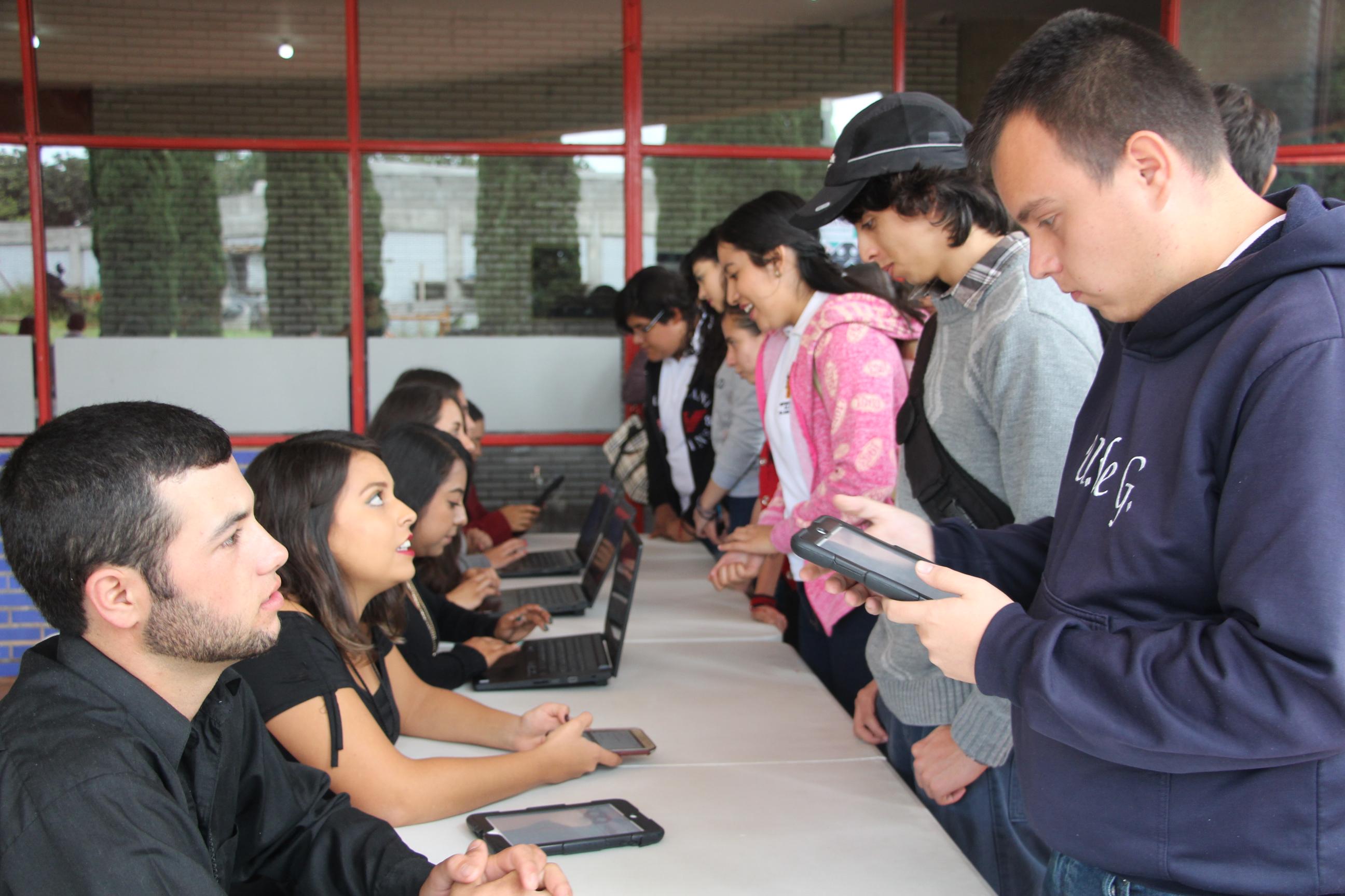 Registro de los visitantes a la Expo Profesiones