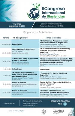 II Congreso Internacional en Biociencias