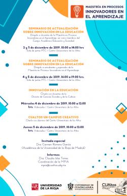Programa de actividades de la MPIA