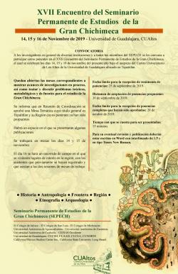 XVII Encuentro del Seminario  Permanente de Estudios  de la  Gran Chichimeca