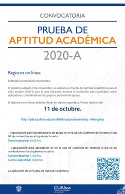 Prueba de Aptitud Academica 2020-B