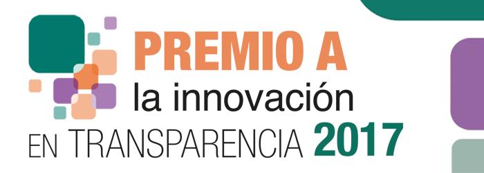 Convocatoria Premio a la Innovación en Transparencia