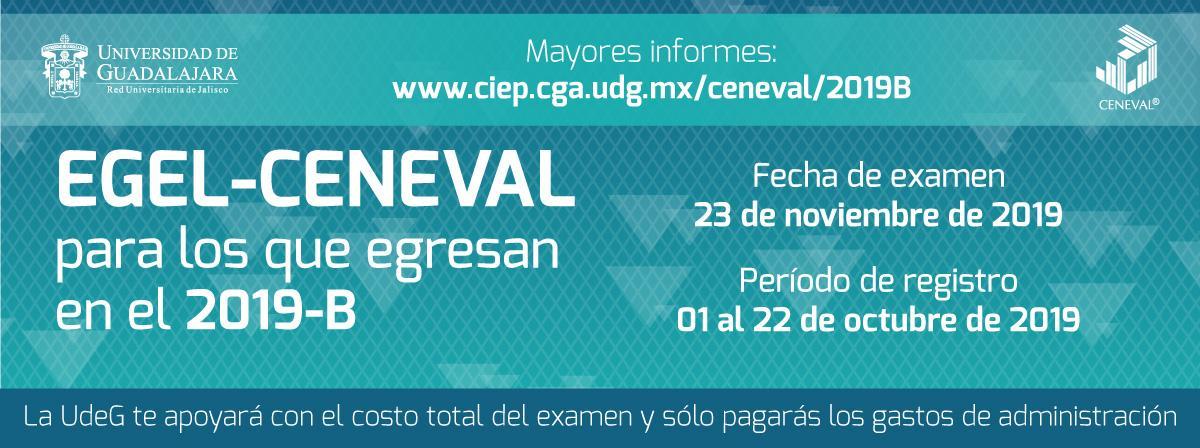 Ceneval 2019-b, registro del 1 al 22 de octubre, examen el 23 de noviembre