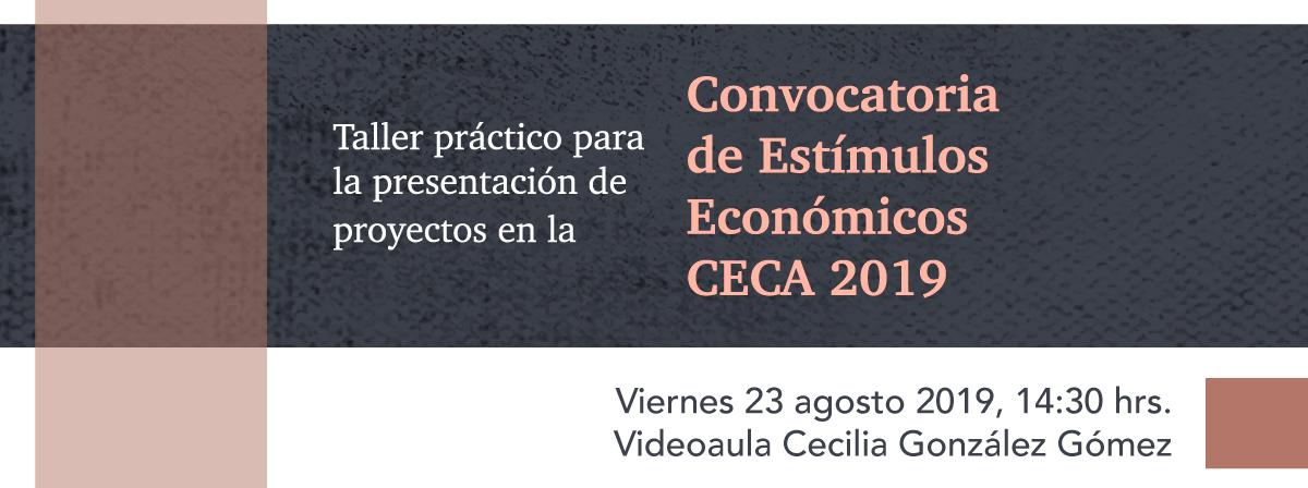 Convocatoria de Estímulos Económicos CECA 2019