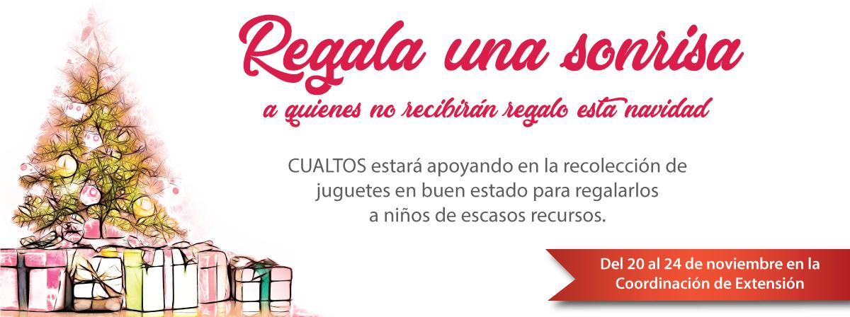Recolección de juguetes para regalar a niños de escasos recursos, coordinación de extensión