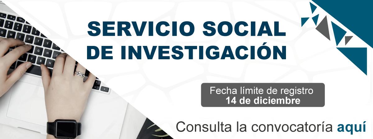 Servicio social de investigación, fecha límite, 14 de diciembre
