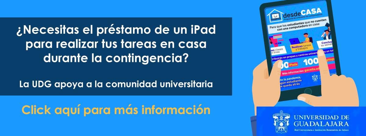 ¿Necesitas el préstamo de un iPad para realizar tus tareas en casa?