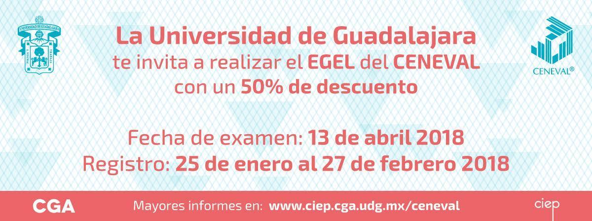 Aplicación del CENEVAL con 50% de descuento, 13 de abril