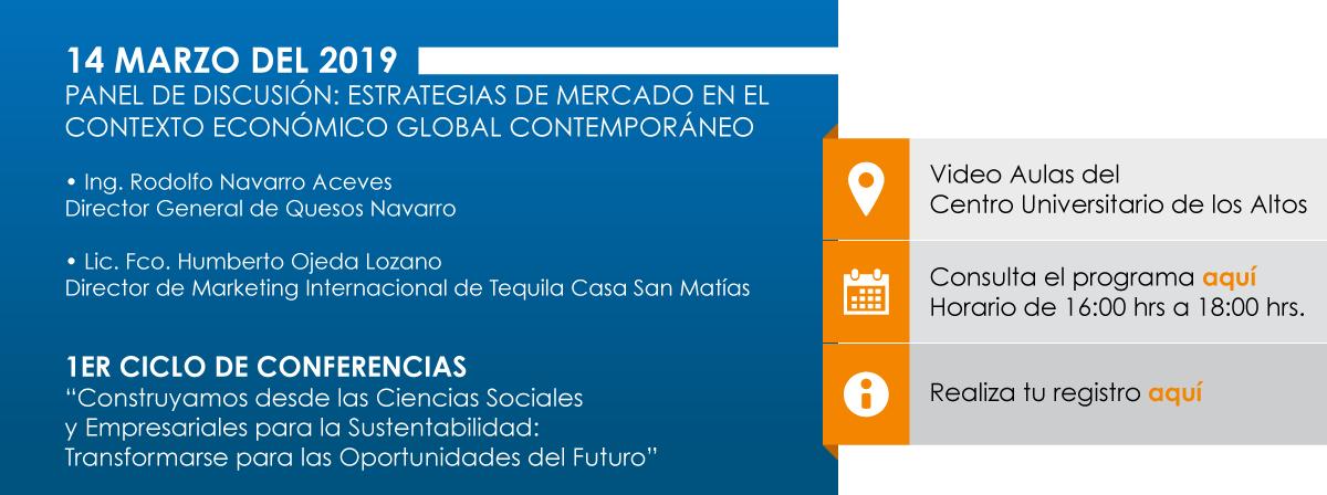 """1ER CICLO DE CONFERENCIAS """"Construyamos desde las Ciencias Sociales y Empresariales para la Sustentabilidad: Transformarse para las Oportunidades del Futuro"""""""