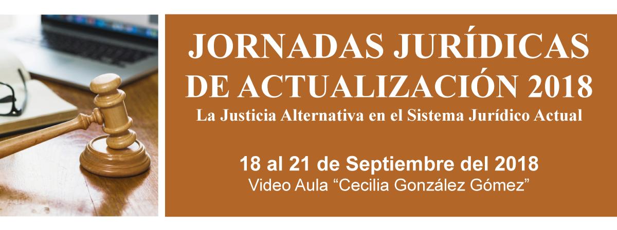 Jornadas jurídicas de actualización, 18 al 21 de sptiembre, videoaula