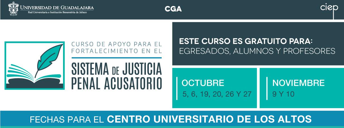 Curso de Apoyo para el Fortalecimiento en el Sistema de Justicia Penal Acusatorio