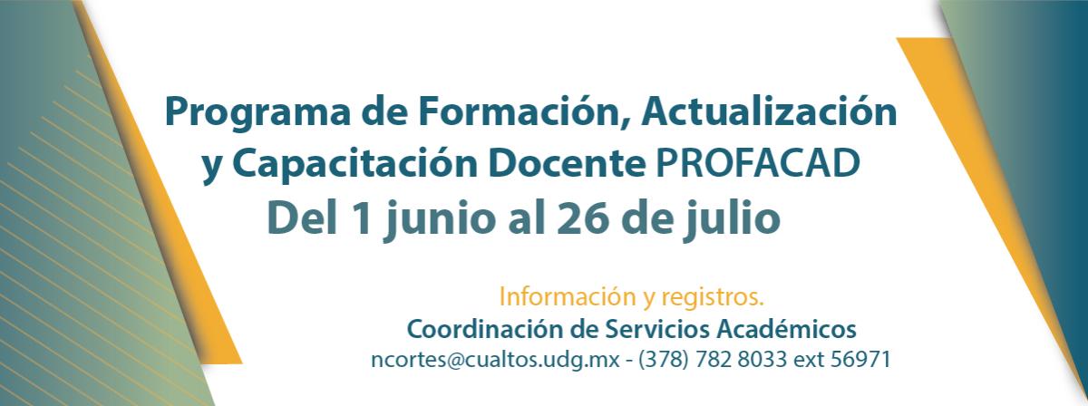 Programa de Formación, Actualización y Capacitación Docente (PROFACAD)