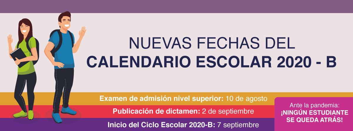 Nuevas fechas PAA 2020-B, 10  de agosto