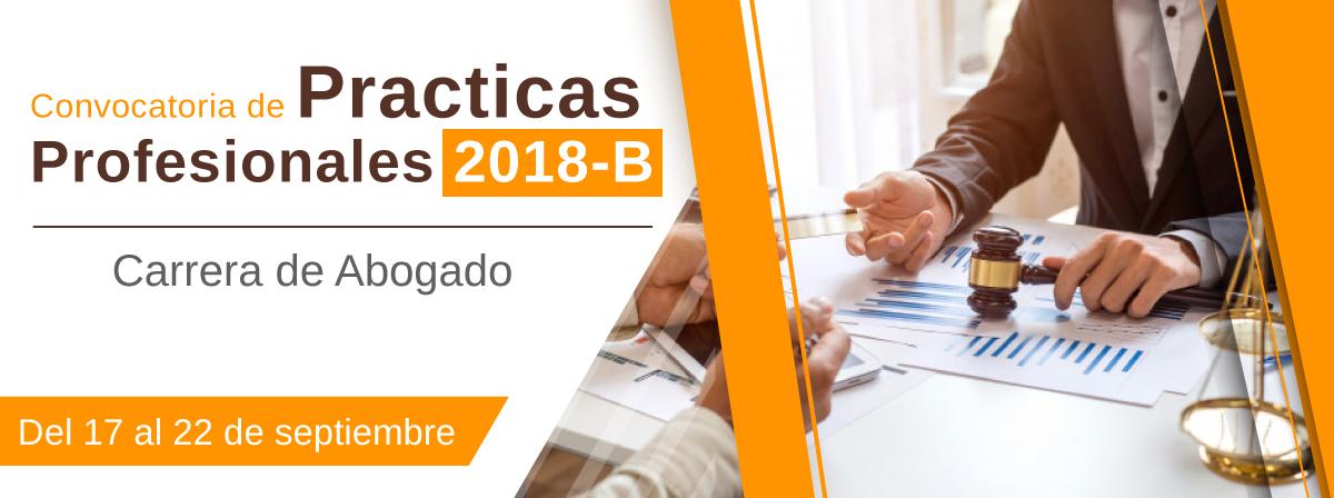 Convocatoria de Practicas Profesionales 2018-b